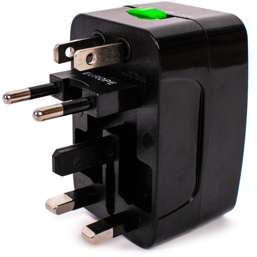 Travel Adapter Eu To Uk Miami Carryon International Travel Adapter Us Uk Eu Au Cn Black