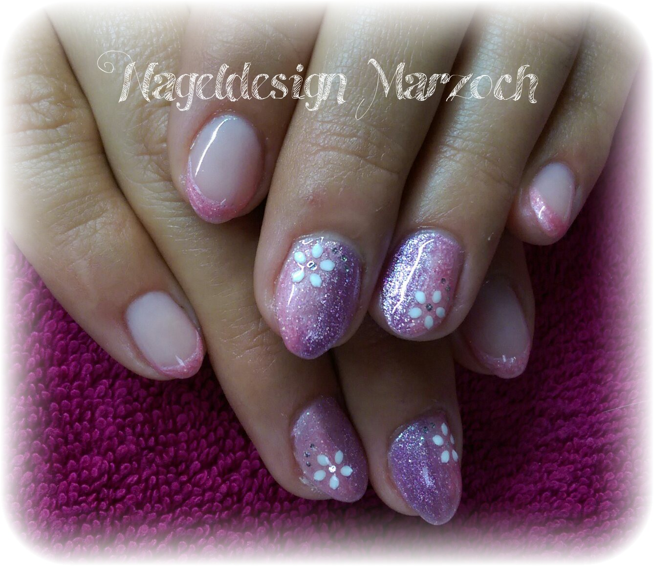 Nageldesign Mit Glitzer Nageldesign Marzoch