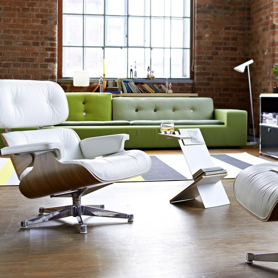 Vitra Eames Lounge Chair Lounge Chair And Ottoman Nogal Blanco Vitra