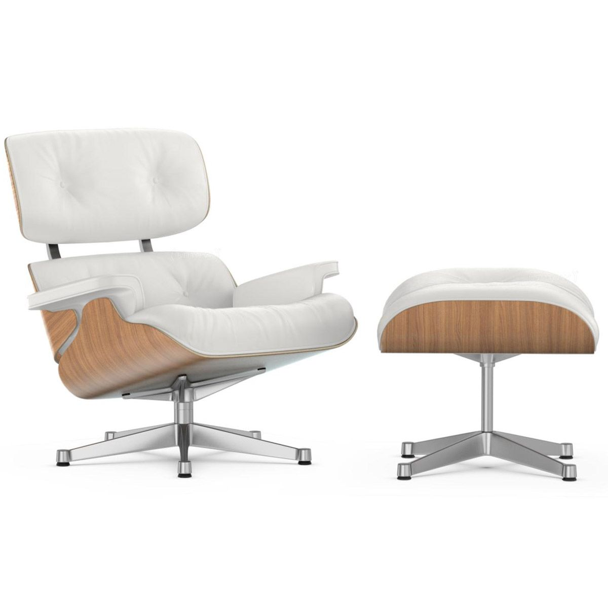 Butaca Charles Eames Lounge Chair And Ottoman Nogal Blanco Vitra En La Tienda