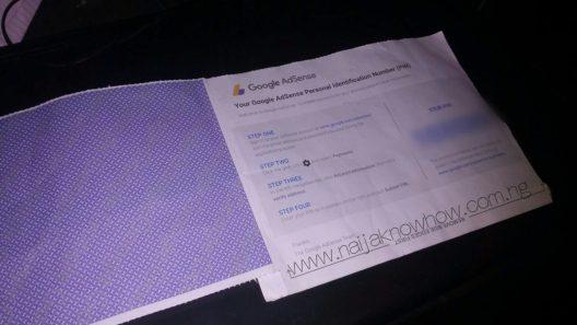 Google Adsense Verification PIN Mailer – Inside