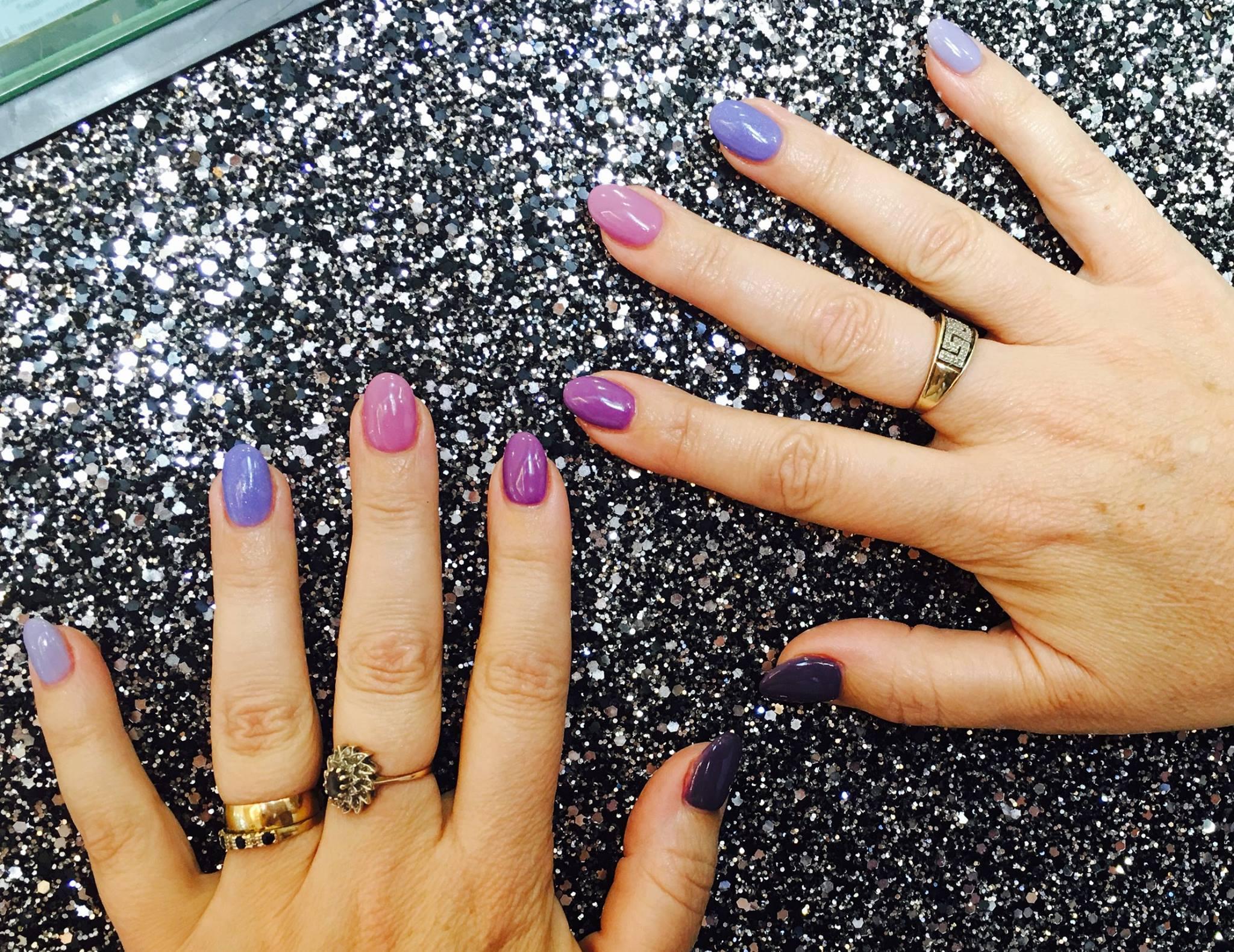 Purple Lavendar Pink Nails Reigate Surrey The Nail