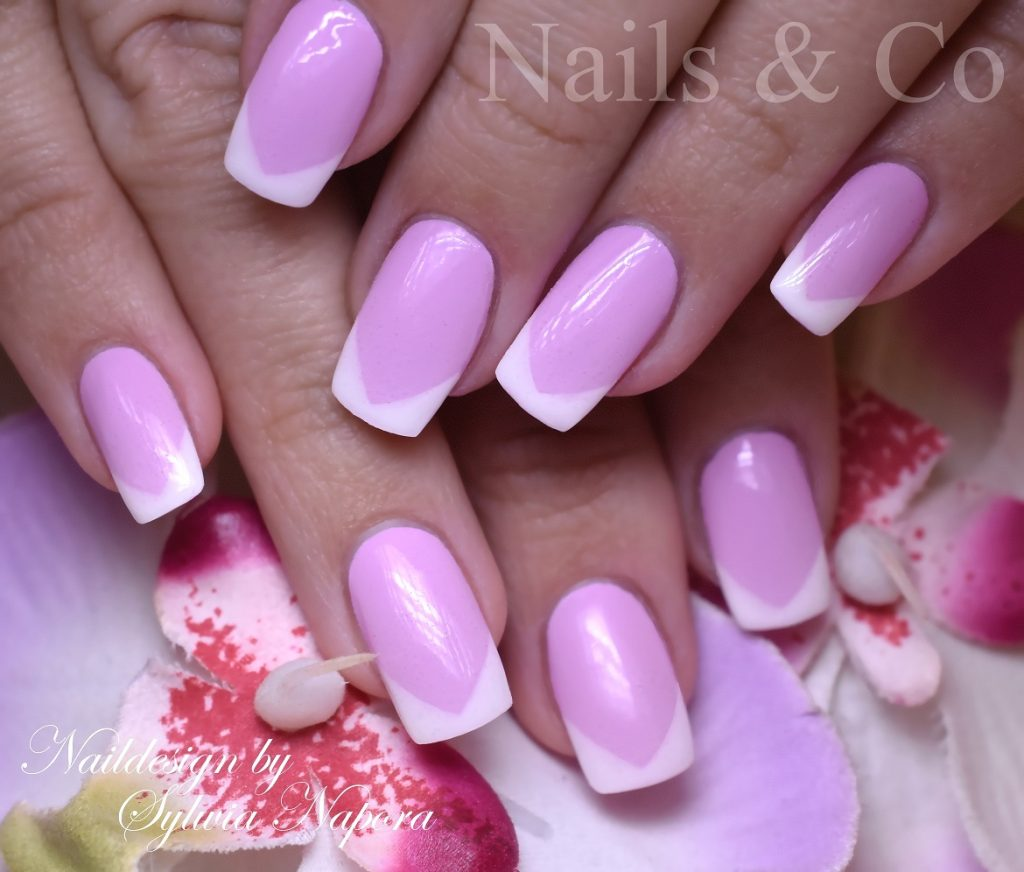 Nageldesign Weiß Rosa Ombré Nails Nailart Co