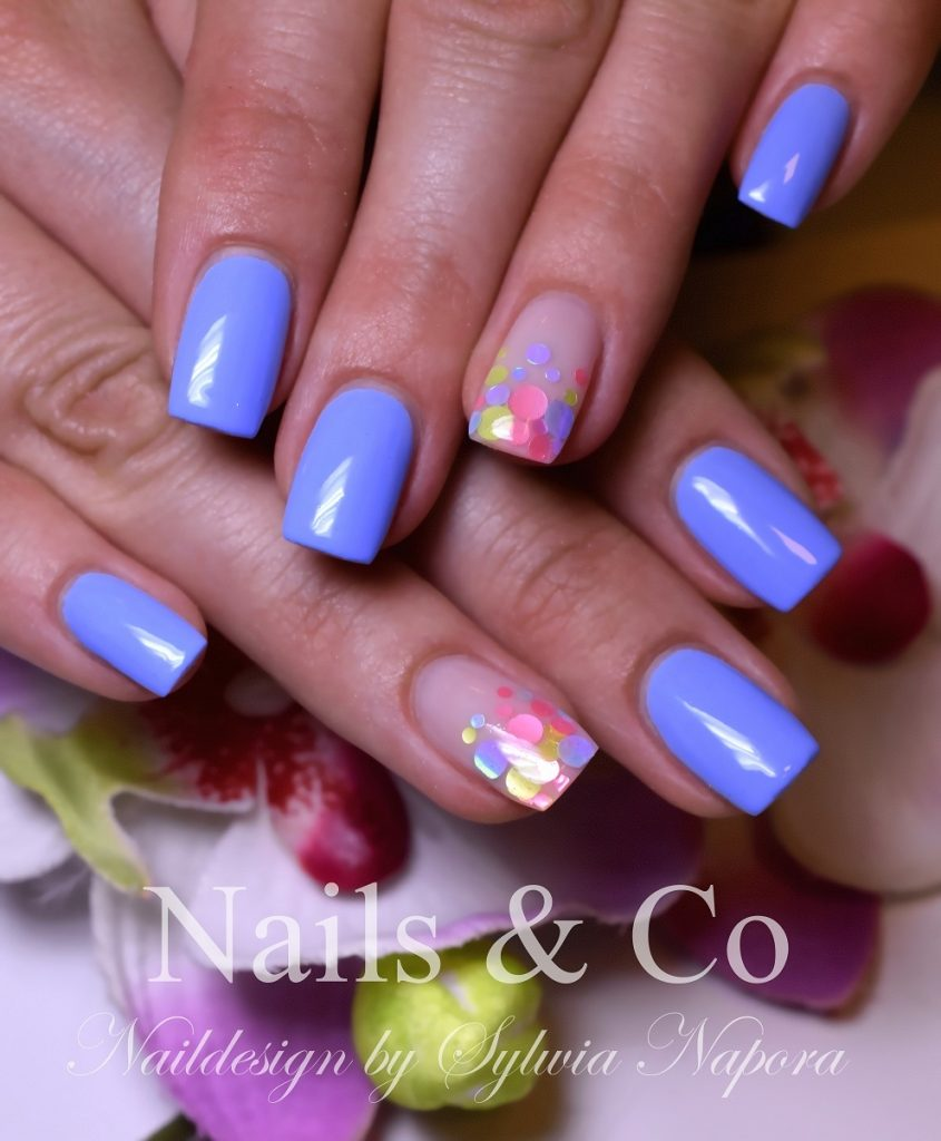 Gelnägel Lila Sommer Nageldesign Nailart Co