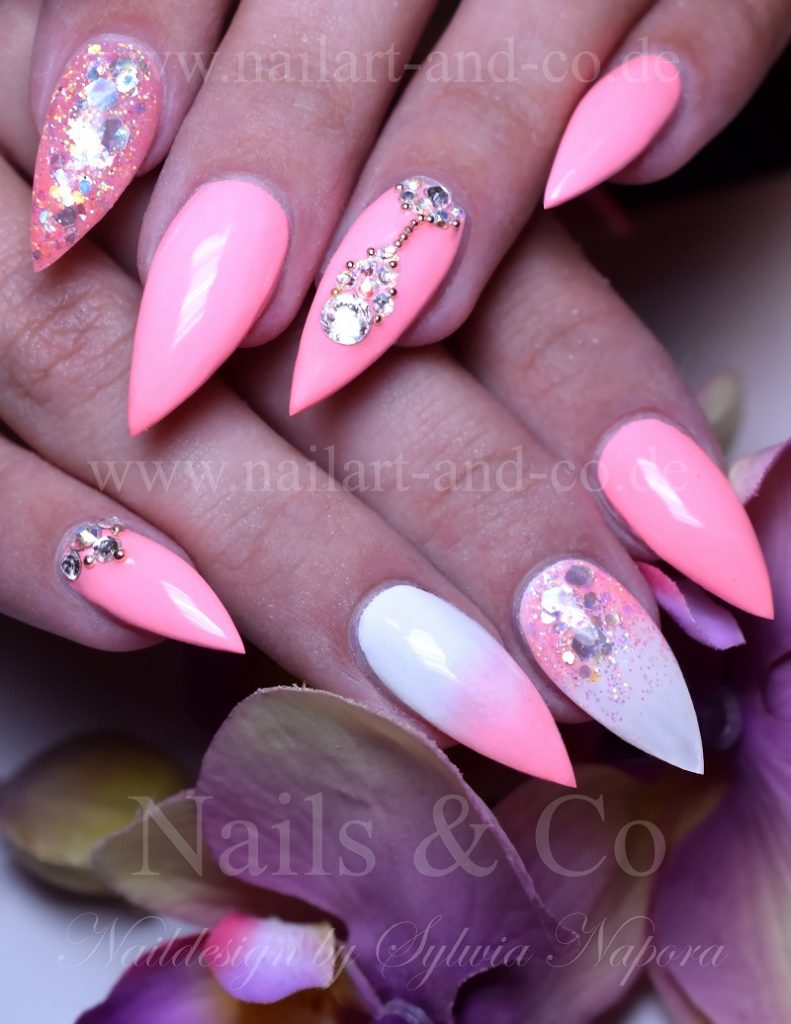 Nageldesign Weiß Rosa Nailart Co Der Blog Für Nageldesign