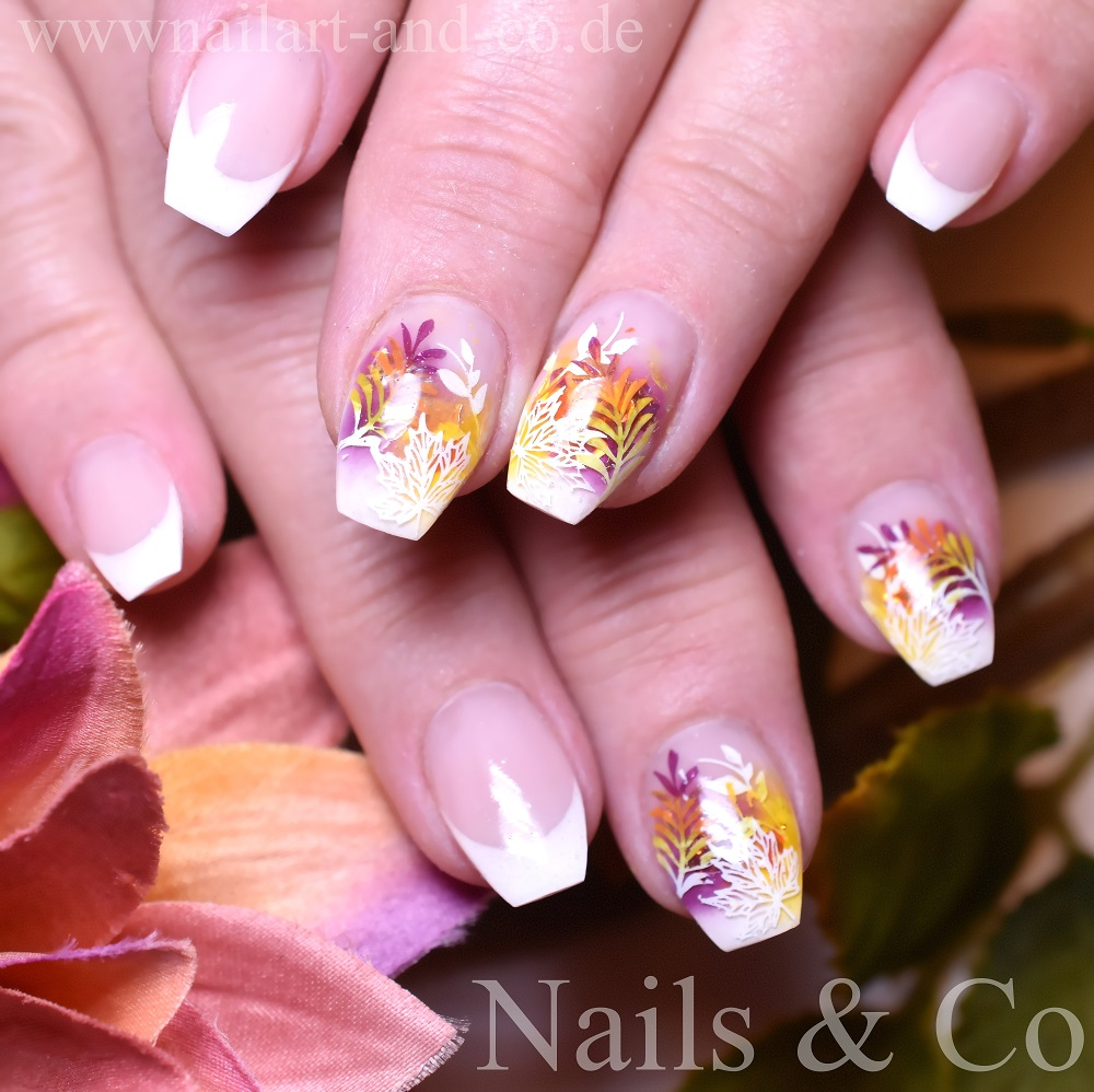 French Nägel Winternägel Nailart Co