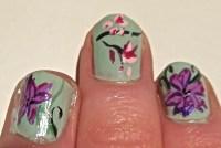 Japanese cherry blossom nail art   Nail Art Lab