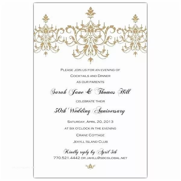 50th Wedding Anniversary Invitations Free Templates Annagraham