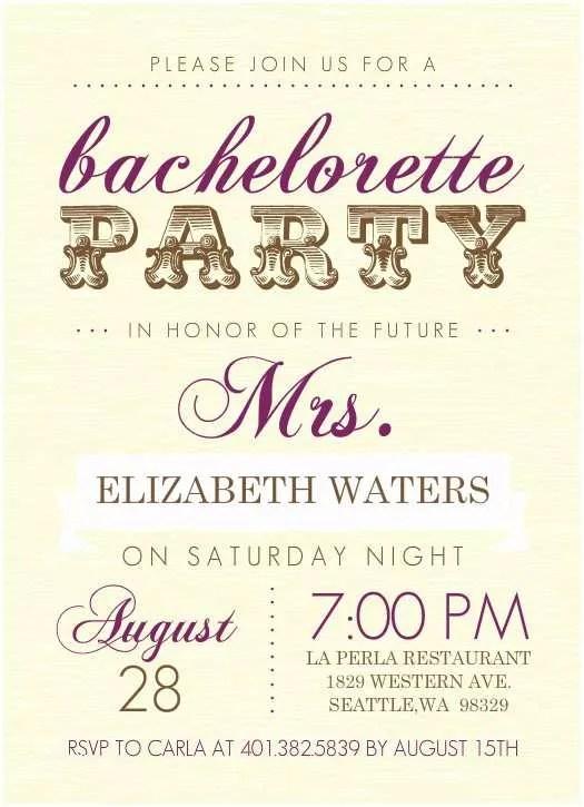 Bachelorette Invitation Template Bachelorette Party Invitation