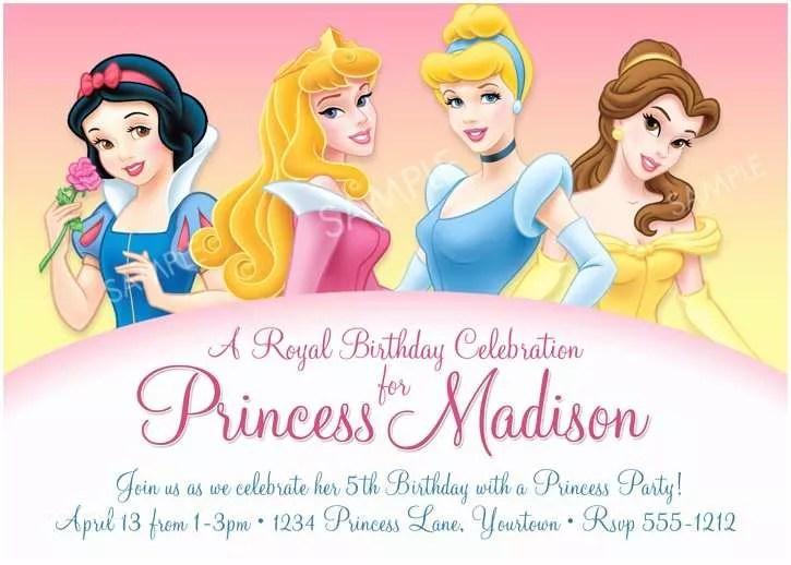 Disney Princess Party Invitations Partie Disney Princess Party