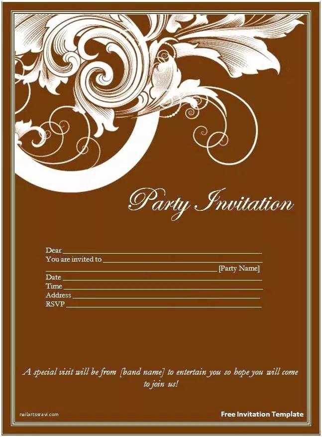 Free Printable Wedding Invitation Templates for Microsoft Word Free