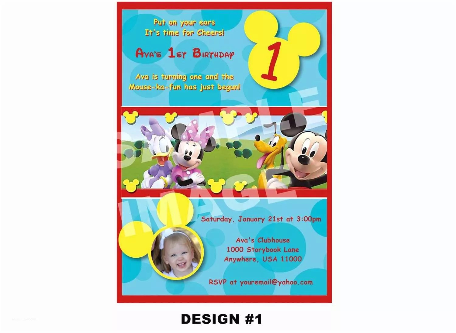 Sessel Mickey Mouse Mickey Mouse Clubhouse Birthday Invitations Exclusive Mickey Mouse