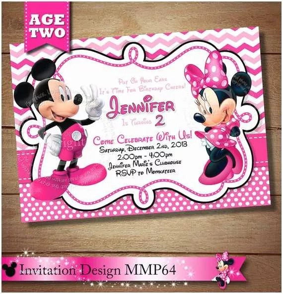 Minnie Mouse 2nd Birthday Invitations Huge Selection Mickey Minnie