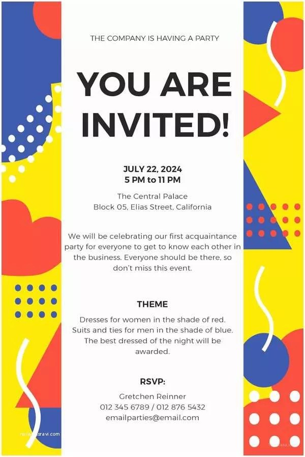 Office Party Invitation Email Nice Potluck Invite Template Frieze