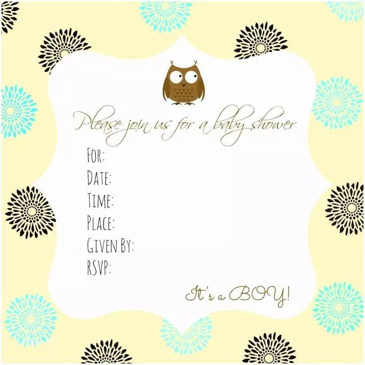 Owl Baby Shower Invitations Free Printable Owl Baby Shower