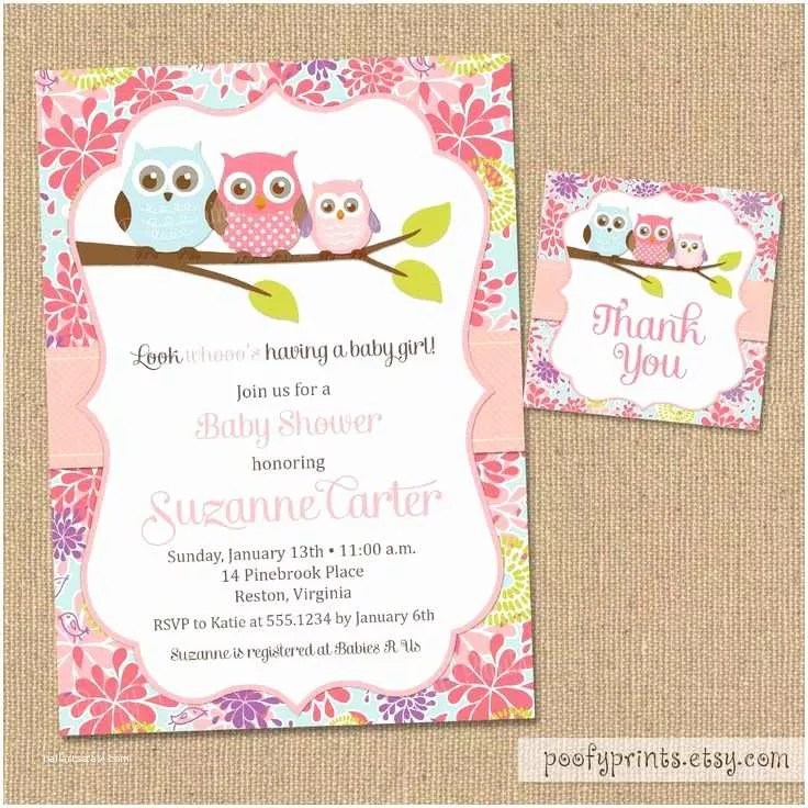 Owl Invitations for Baby Shower Most Popular Owl Baby Shower