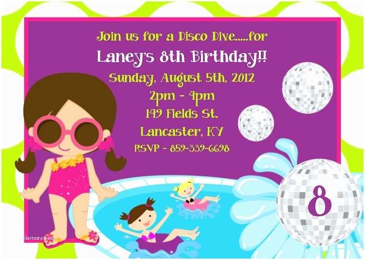 Pool Party Birthday Invitations Backyard Pool Party Invitations