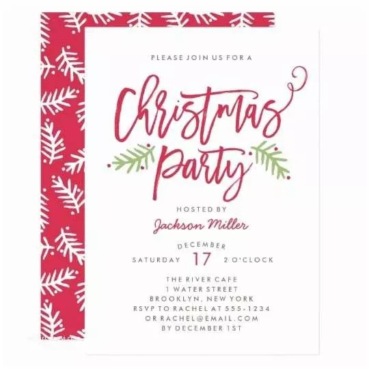 Sample Christmas Party Invitation Sample Invitation Card for