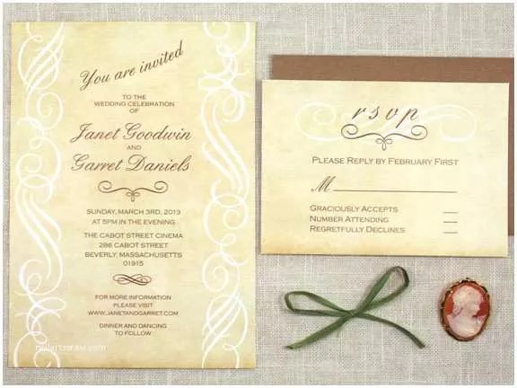 Scroll Wedding Invitations Available now Vintage Scroll Wedding