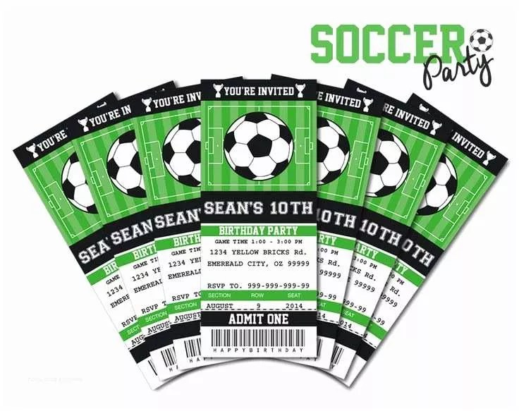 Soccer Party Invitations Printable soccer Birthday Invitations Free