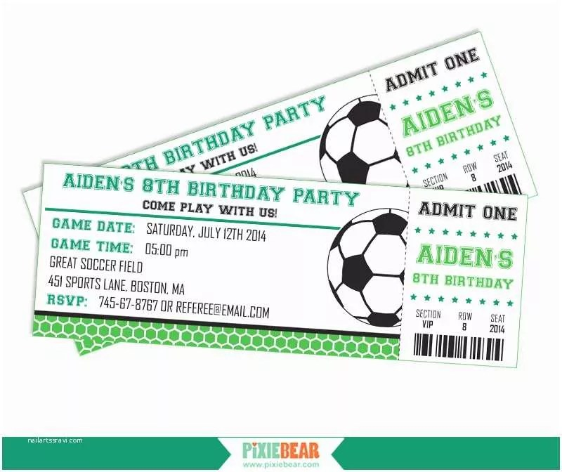 Soccer Party Invitations Printable soccer Birthday Invitations Free