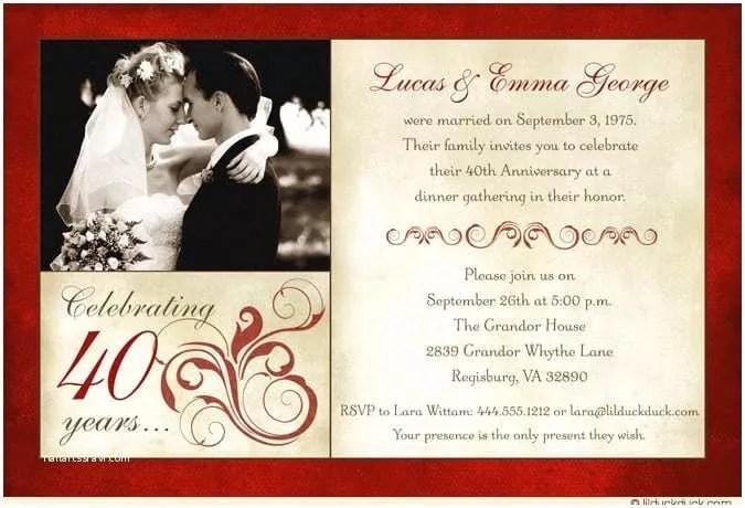 Wedding Anniversary Invitation Templates 8 Best Of Free Printable