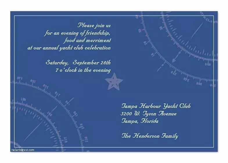 Yacht Wedding Invitation Wording Yacht Club Corporate Invitations by