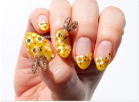 WearYellowForSeth Nail Art   nailbees