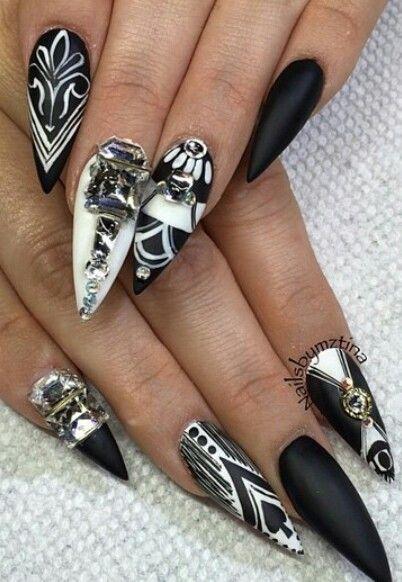 40 Breathtaking Black White Nail Designs For Glamour Girls