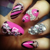 20 Startling Nail Designs With Diamonds  NailDesignCode