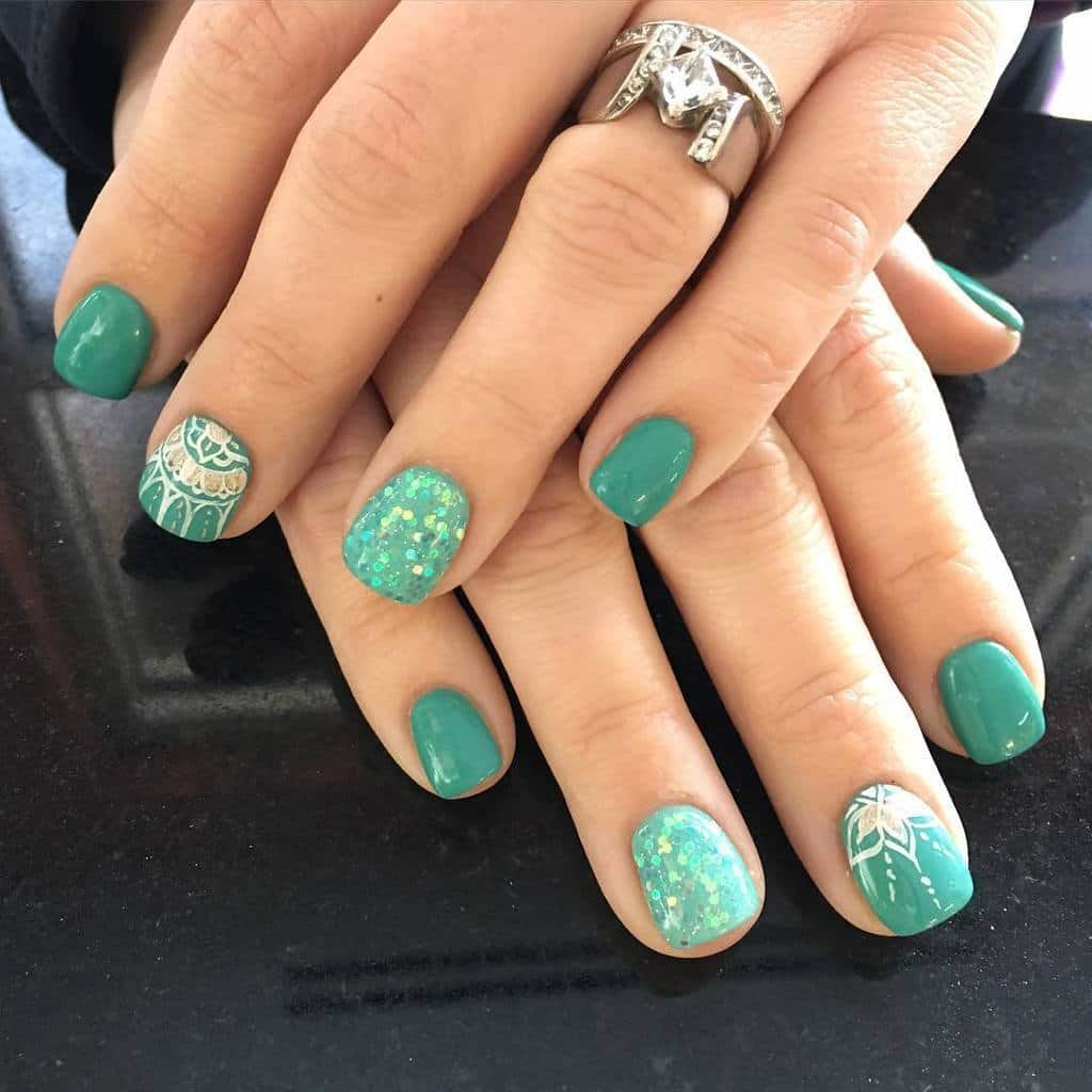 15 Teal Nail Designs You'll Fall In Love With  NailDesignCode
