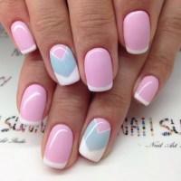 Geometric Design Hot Pink Nail Designs | Nail Designs