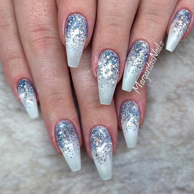 Freshest Ombre Glitter Nails Ideas