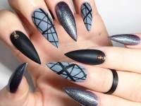 21 Incredible Pointy Nail Designs | NailDesignsJournal.com