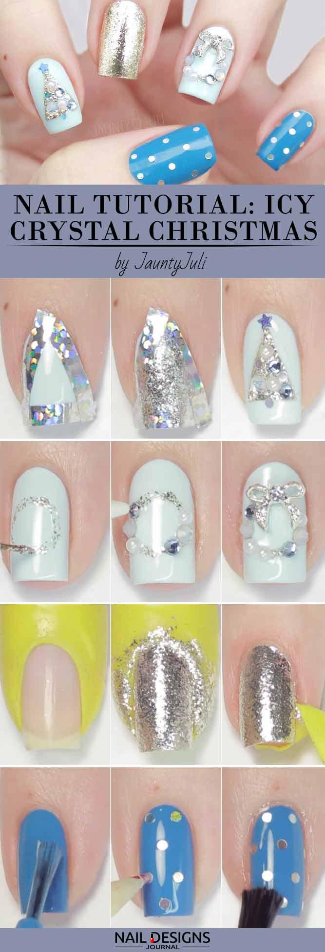 Icy Crystal Christmas Design