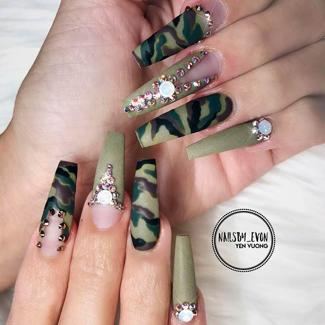 Camouflage Nails Nail Ftempo