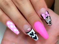 Minnie Mouse Nails - Nail Ftempo