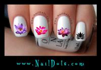 Dandelion wish nail decals, Flower Nail Decals, Hibiscus ...