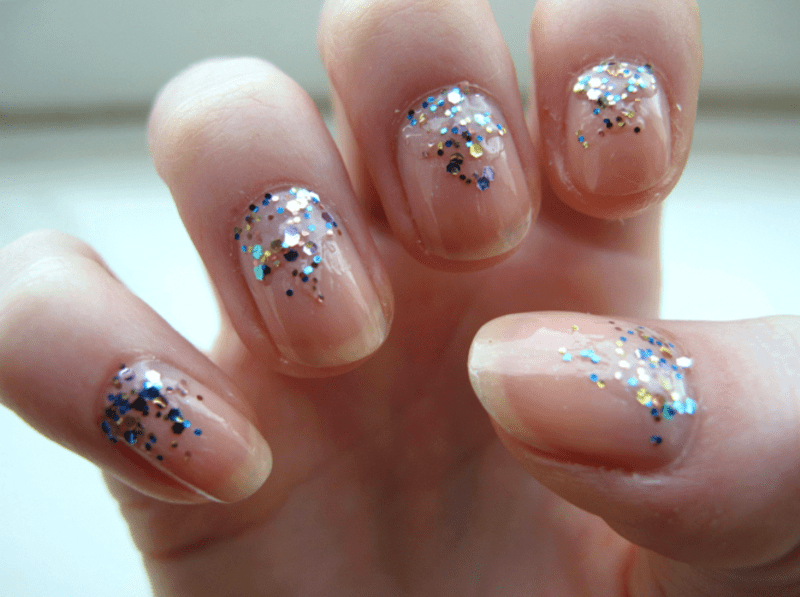 Comfortable Glitter Gradient Nail Art By Madie Nailpolis Museum Of