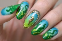 Under The Sea nail art nail art by Let's Nail Moscow ...