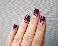 Purple lotus flower gradient nail art by simplynailogical ...
