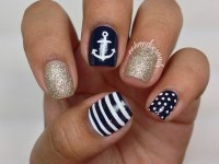 (More!) Anchor Nail Art nail art by Celine Pea ...