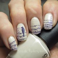 A silent bird nail art by Michelle - Nailpolis: Museum of ...