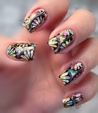 Lotus Flowers and Glitter nail art by Debbie - Nailpolis ...