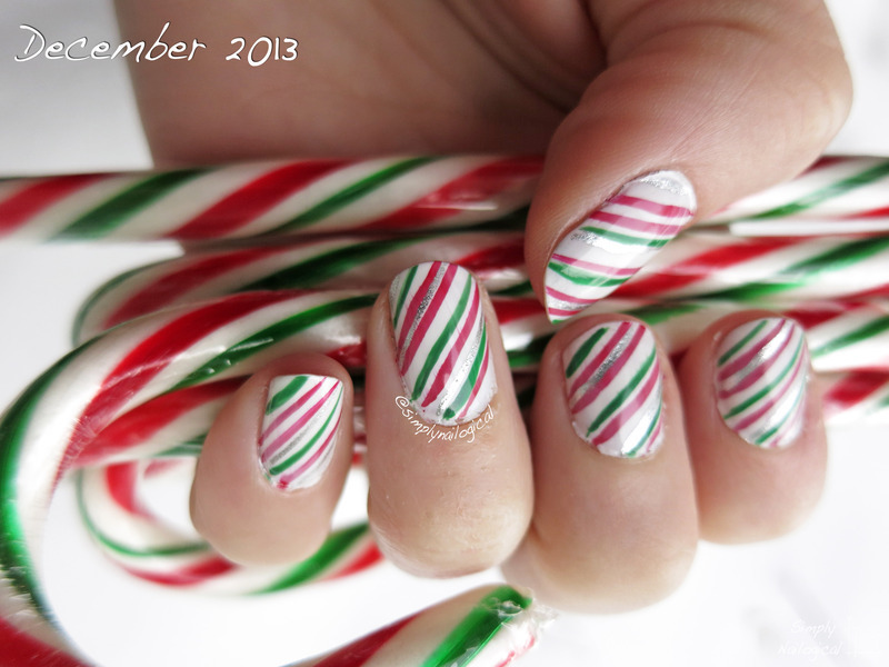 Candy Cane Nails Nail Art By Simplynailogical Nailpolis