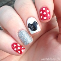 Minnie Mouse Nail Art Easy - Nail Ftempo