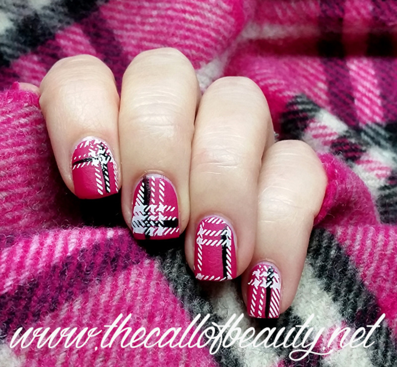 Hot Pink Burberry Nails Nail Art By The Call Of Beauty