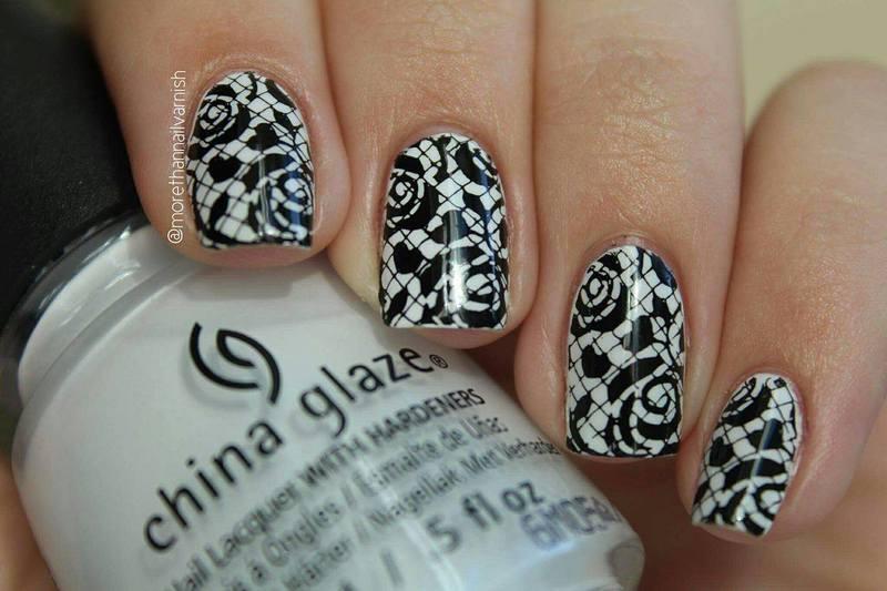 Black And White Nail Art Nail Art By Reelika Nailpolis