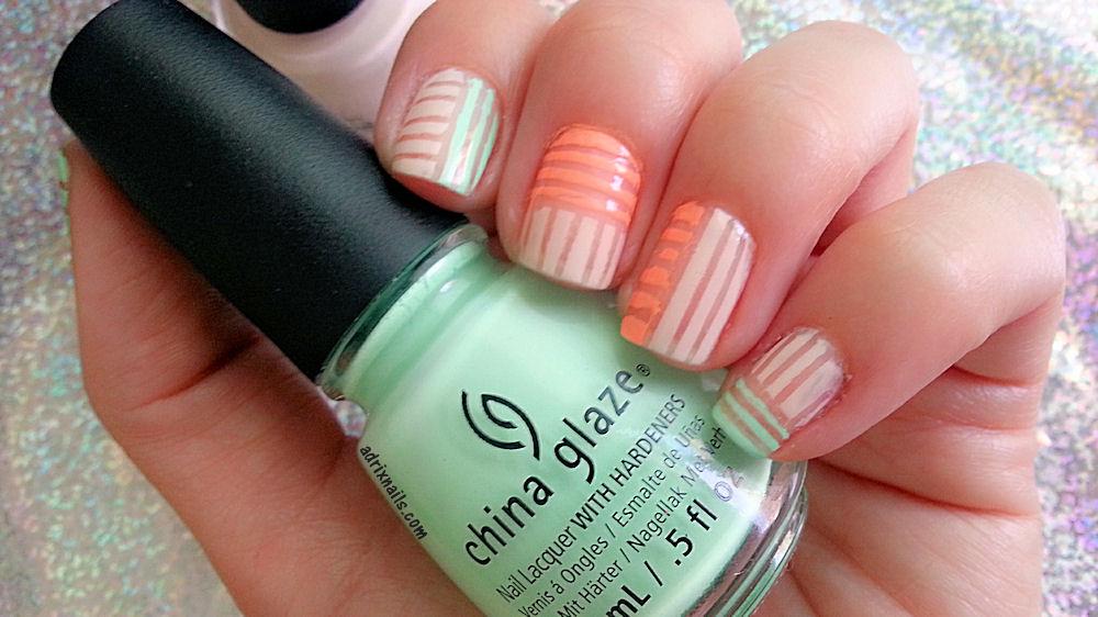 Tutorial Cintilla Y Colores Primaverales Adrix Nails