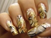 gold nail design | Me, My Nails & I